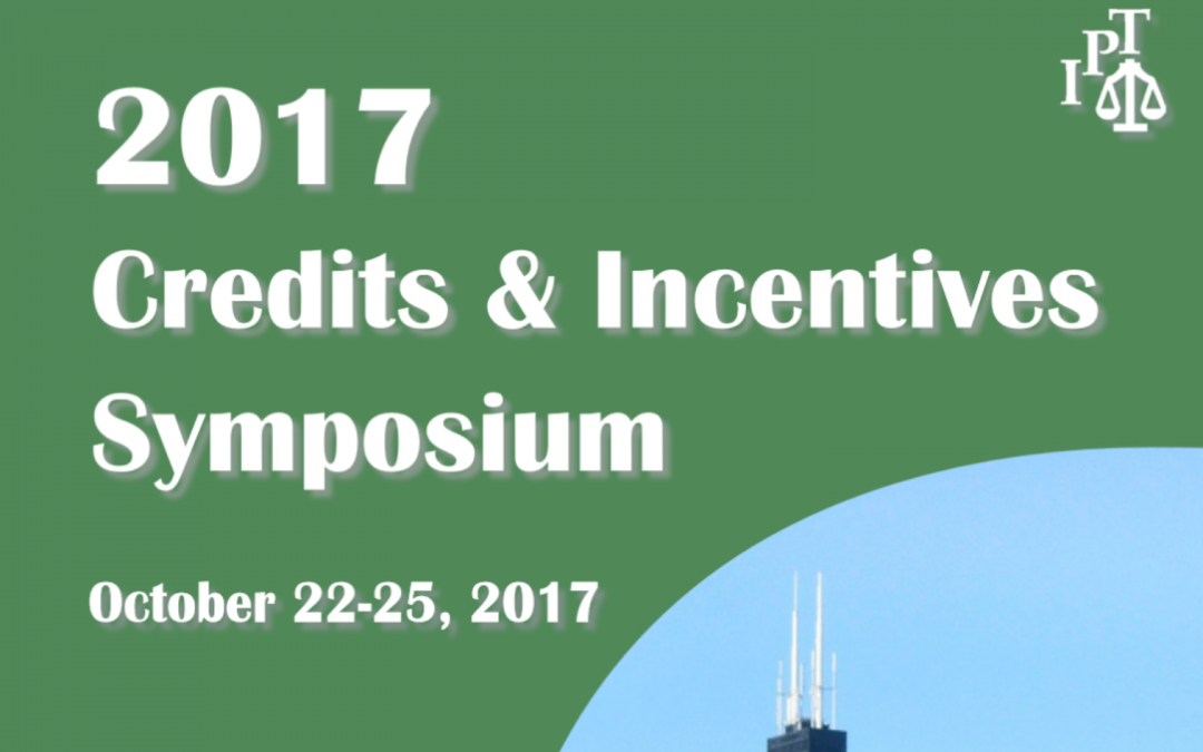 ANDREAS DRESSLER TO GIVE KEYNOTE PRESENTATION AT THE 2017 CREDITS AND INCENTIVES SYMPOSIUM.
